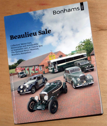 Bonhams Catalog - 10th September 2011: Beaulieu Sale - Cars & Motorcycle Auction