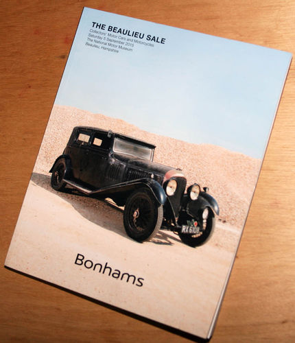 Bonhams Catalog - 05th September 2015: Beaulieu Museum - Cars & Motorcycle Auction