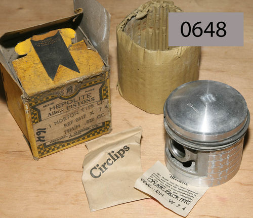 "500cc Hepolite WD 16H (Higher Comp) New Old Stock Piston: 79mm +0.020""/0.030"" Oversize"