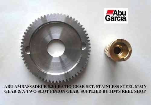 ABU Ambassadeur 5.3:1 S/S Custom Gear Set 2SLOT