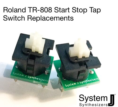 Roland TR-808 Start Stop Tap Switch replacement set
