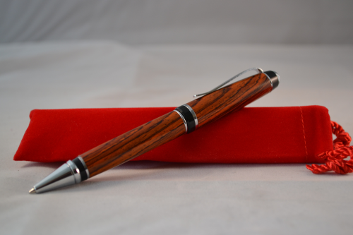Cigar Pen Hand made in Cocobolo with Chrome trim