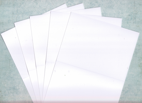 10 C6 Card Blanks White