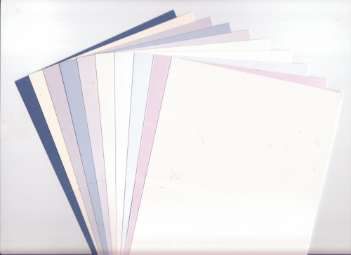 "10 Square 4"" x 4"" Irridescent/Pearlescent Cards Blanks"