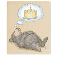 "Gruffies Rubber Stamp - "" I Dream of Cake"""