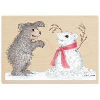 "Gruffies Rubber Stamp - "" Snow Bear"""