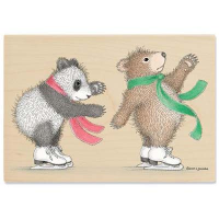 "Gruffies Rubber Stamp - "" Bears on Ice"""