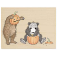 "Gruffies Rubber Stamp - ""Punkin' Head"""