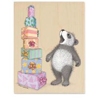 "Gruffies Rubber Stamp - "" Tower of Presents"""