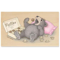 "Gruffies Rubber Stamp - "" Beary Full of Truffles"""