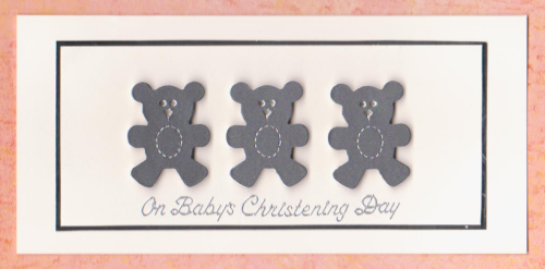 Handmade Christening Card CD2 Christening Day Bears