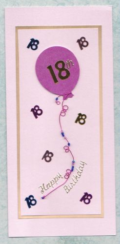 HB66-HB67 18th Birthday Balloon