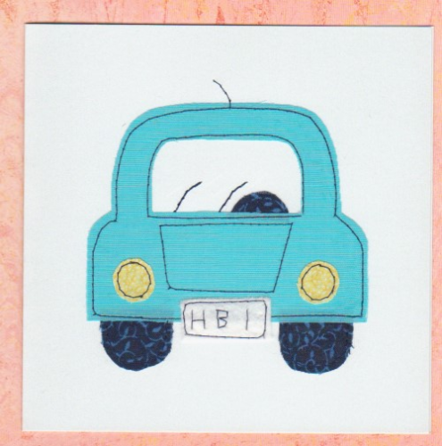 Handmade Card - Patchwork Car