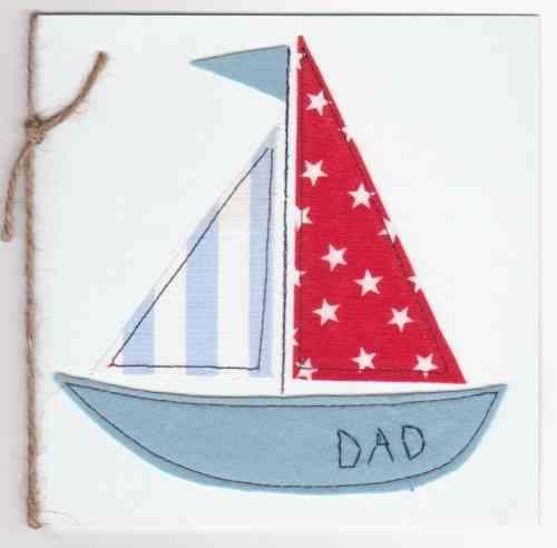 Handmade Card - Patchwork Sailing Boat
