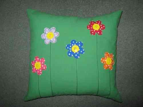 Handmade Cushion Button Flowers