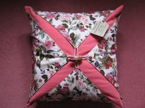 Handmade Cushion Wrap Around Blush Rose