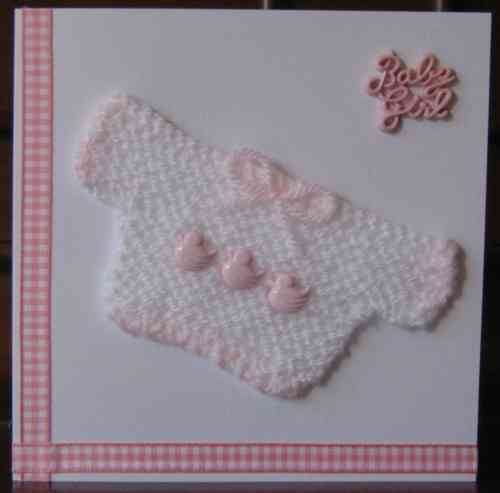 Knitted Baby Jumper - Girl