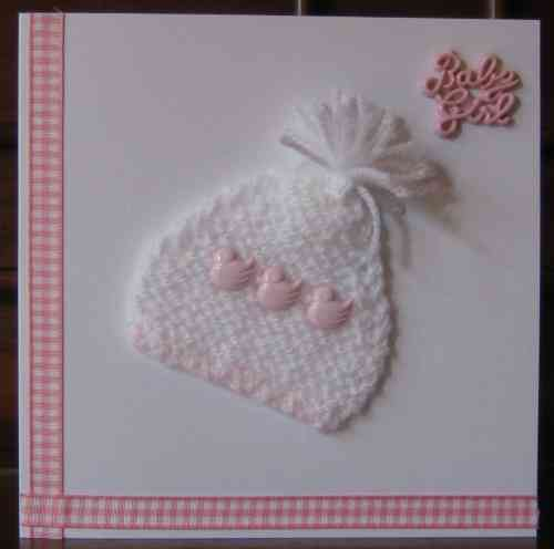 Knitted Baby Bonnet - Girl