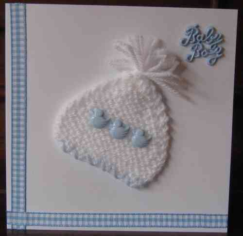 Knitted Baby Bonnet - Boy