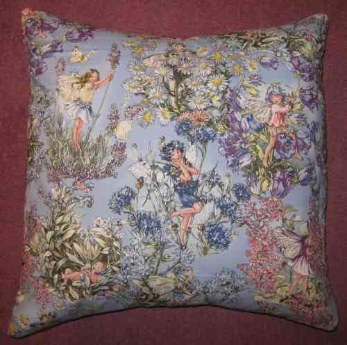 Handmade Cushion - Flower Fairies - Periwinkle Fairies