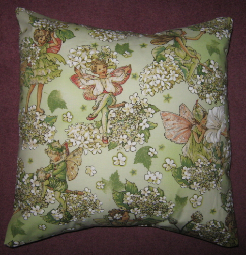 Handmade Cushion - Flower Fairies - Apple Fairies