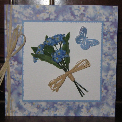 Luxury Handmade Card - Forget Me Nots