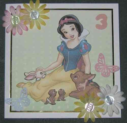 Handmade Snow White Card