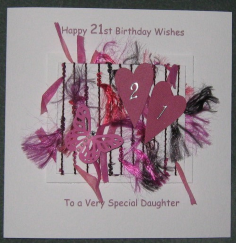 Personalised Handmade 21st Birthday Card - Butterflies