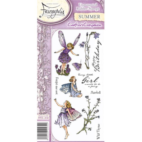 Flower Fairies Fairyopolis Unmounted Rubber Stamp Set - Summer