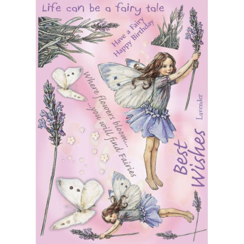 Flower Fairies Rubber Stamp Set - Lavender
