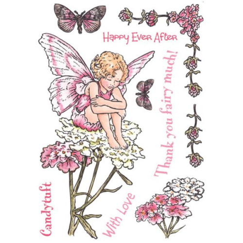 Flower Fairies of the Garden Rubber Stamp Set - Candytuft