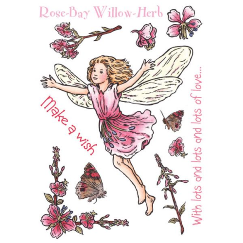 Flower Fairies of the Garden Rubber Stamp Set - Rose Bay Willow Herb