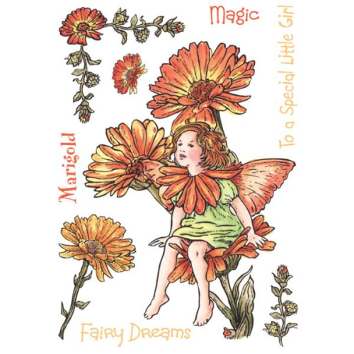 Flower Fairies of the Garden Rubber Stamp Set - Marigold