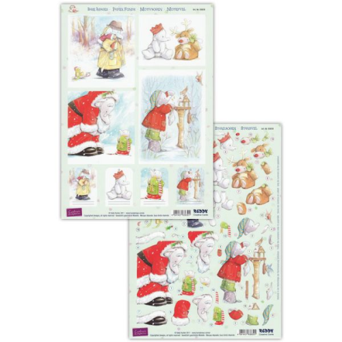 Humphrey's Corner Christmas Die Cut Decoupage Sheet 1