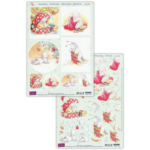Humphrey's Corner Christmas Die Cut Decoupage Sheet 4