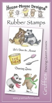 House Mouse Design Gruffies Unmounted Rubber Stamp Set Summer - Dancing Queen