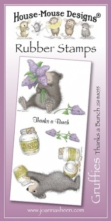 House Mouse Design Gruffies Unmounted Rubber Stamp Set Summer - Thanks a Bunch
