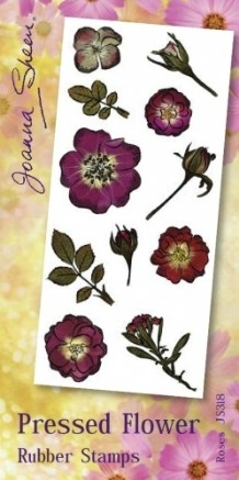 Joanna Sheen Pressed Flower Unmounted Rubber Stamp Set  - Roses