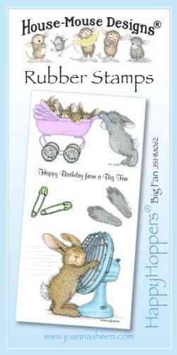 House Mouse Design Happy Hoppers Unmounted Rubber Stamp Set - Big Fan