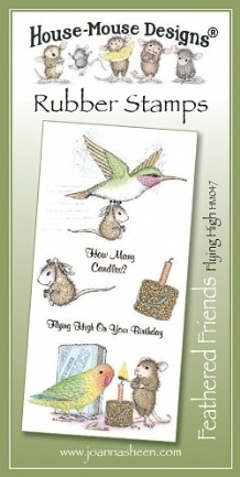 House Mouse Design Feathered Friends Unmounted Rubber Stamp Set Summer - Flying High