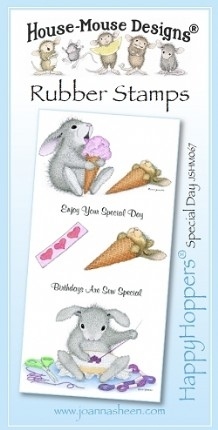 House Mouse Design Happy Hoppers Unmounted Rubber Stamp Set - Special Day