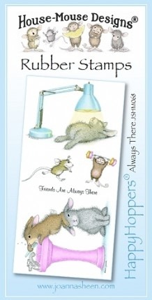 House Mouse Design Happy Hoppers Unmounted Rubber Stamp Set - Always There
