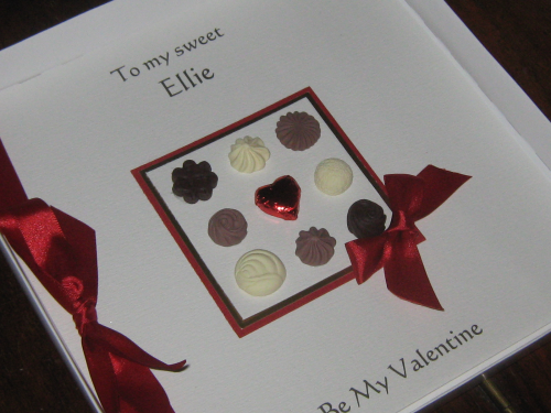 Personalised Handmade Valentine Card - Chocolate Box Luxury Boxed