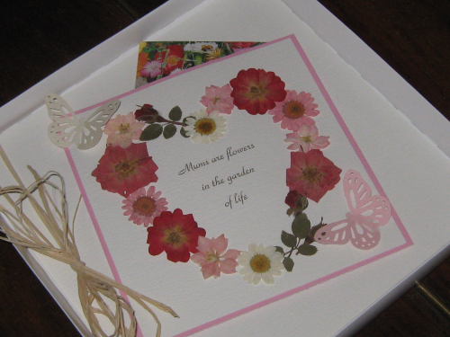 Luxury Handmade Birthday Card/Mother's Day - Butterfly Garden with Seeds Luxury Boxed