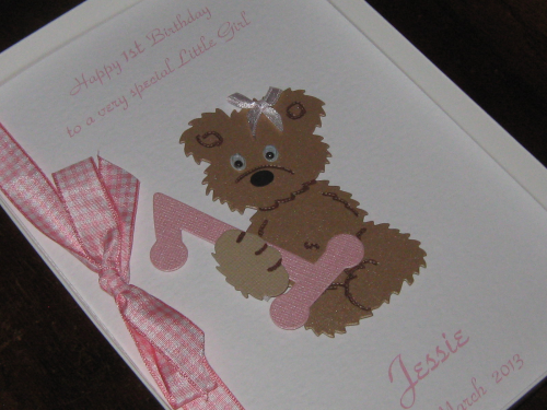Personalised Handmade Little Girl's 1st, 2nd 3rd, 4th, 5th Birthday Greeting Card Luxury Boxed BIR 1