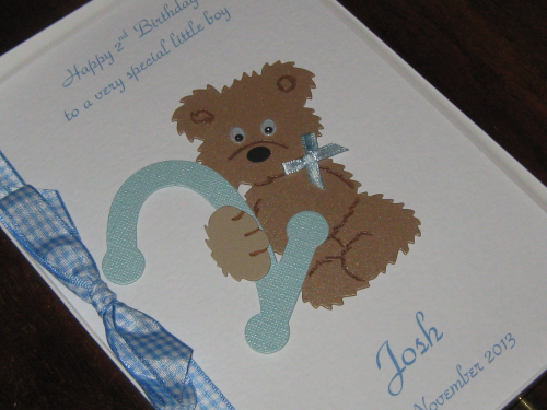 Personalised Handmade Little Boy's 1st, 2nd 3rd, 4th, 5th Birthday Greeting Card Luxury Boxed BIR 2