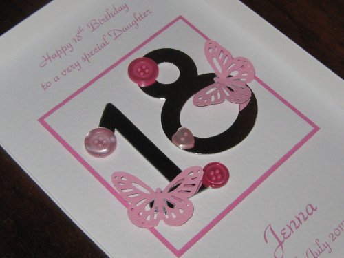 Personalised Handmade Female Birthday Card 18th, 21st Luxury Boxed