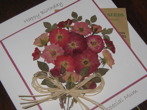 Luxury Handmade BirthdayCard/Mother's Day - Rose Garden with Seeds Luxury Boxed