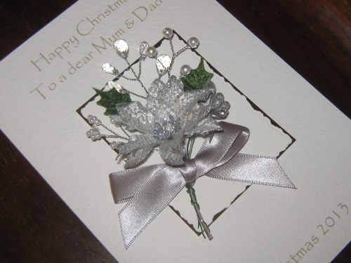 "Handmade Christmas Card - ""Frosty & Bright"" Luxury Boxed"