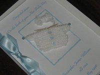 Personalised Handmade New Baby Cards